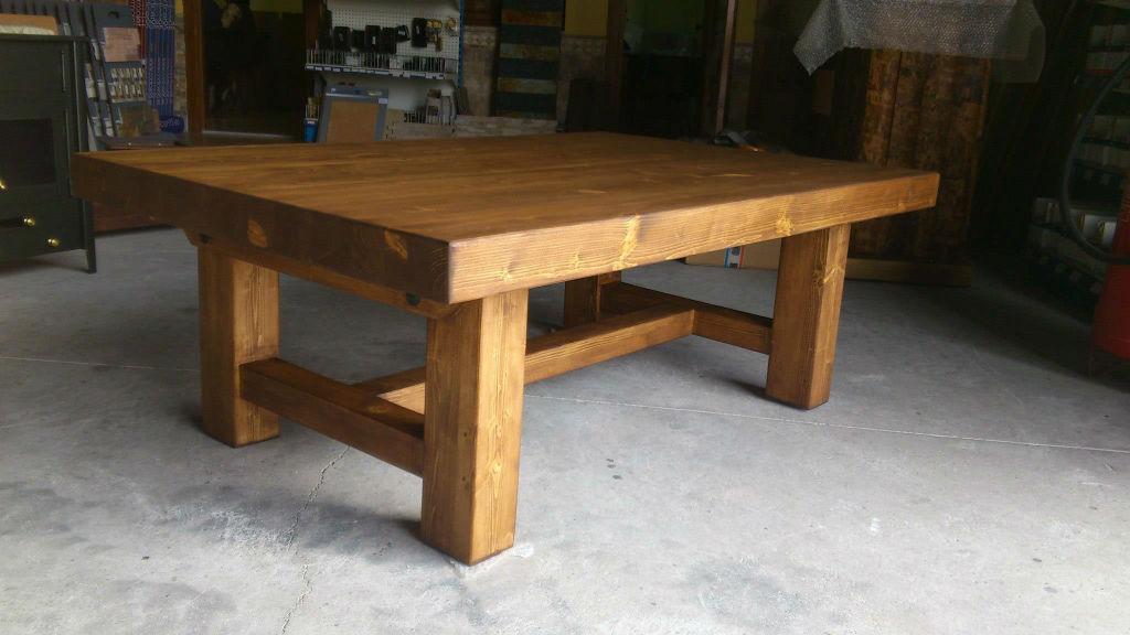 Mesas rusticas de madera para comedor casa dise o for Hacer mesa de madera rustica