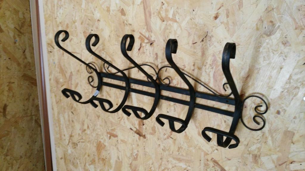 Rusticos y madera art culos de forja for Ganchos metalicos para percheros