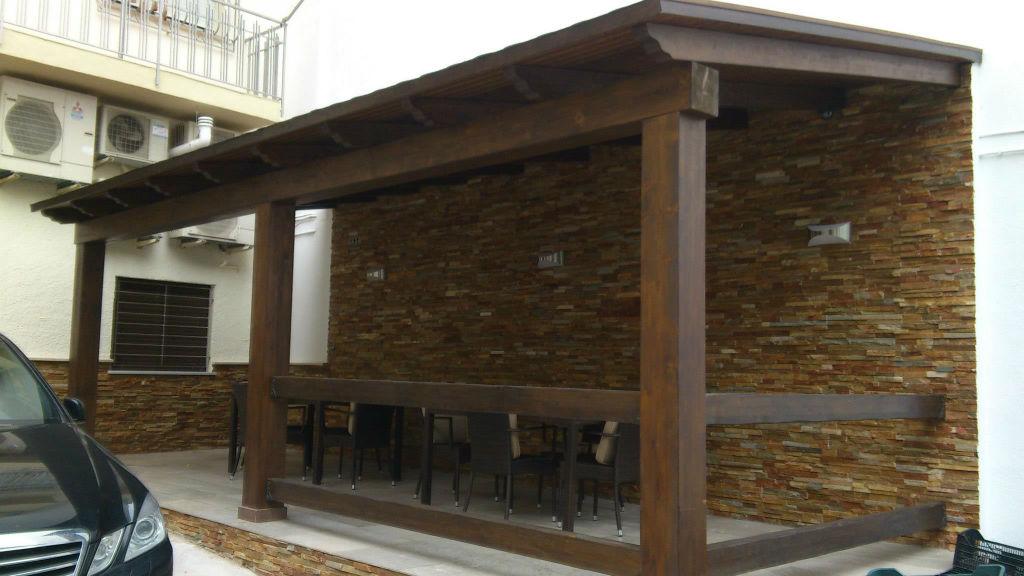 prgola terraza cubierta negocio - Pergola Terraza