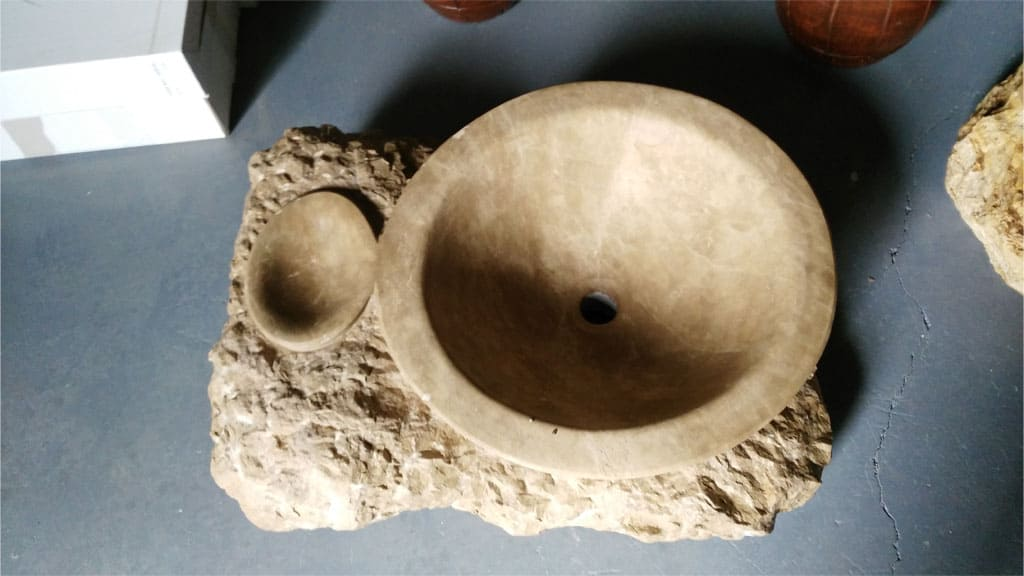 Rusticos y madera lavabos y fregaderos r sticos for Marmol piedra natural