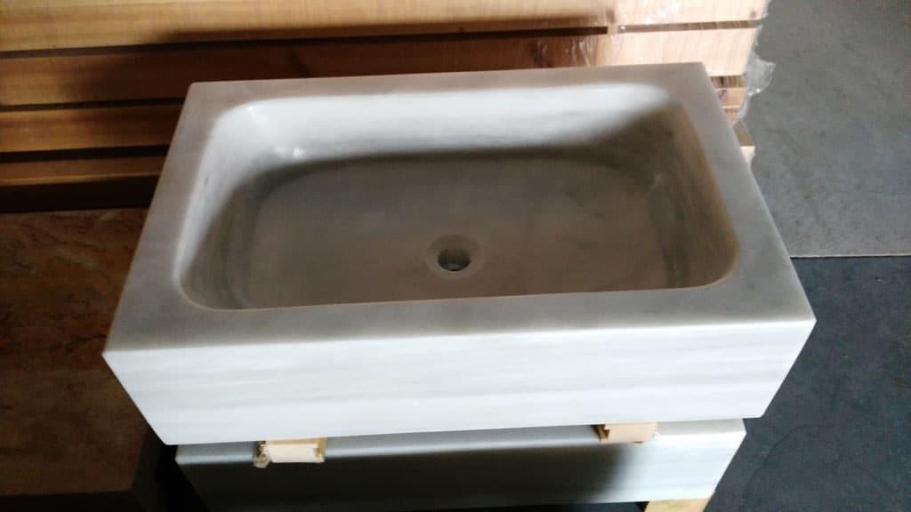 Rusticos y madera lavabos y fregaderos r sticos - Fregadero de marmol ...