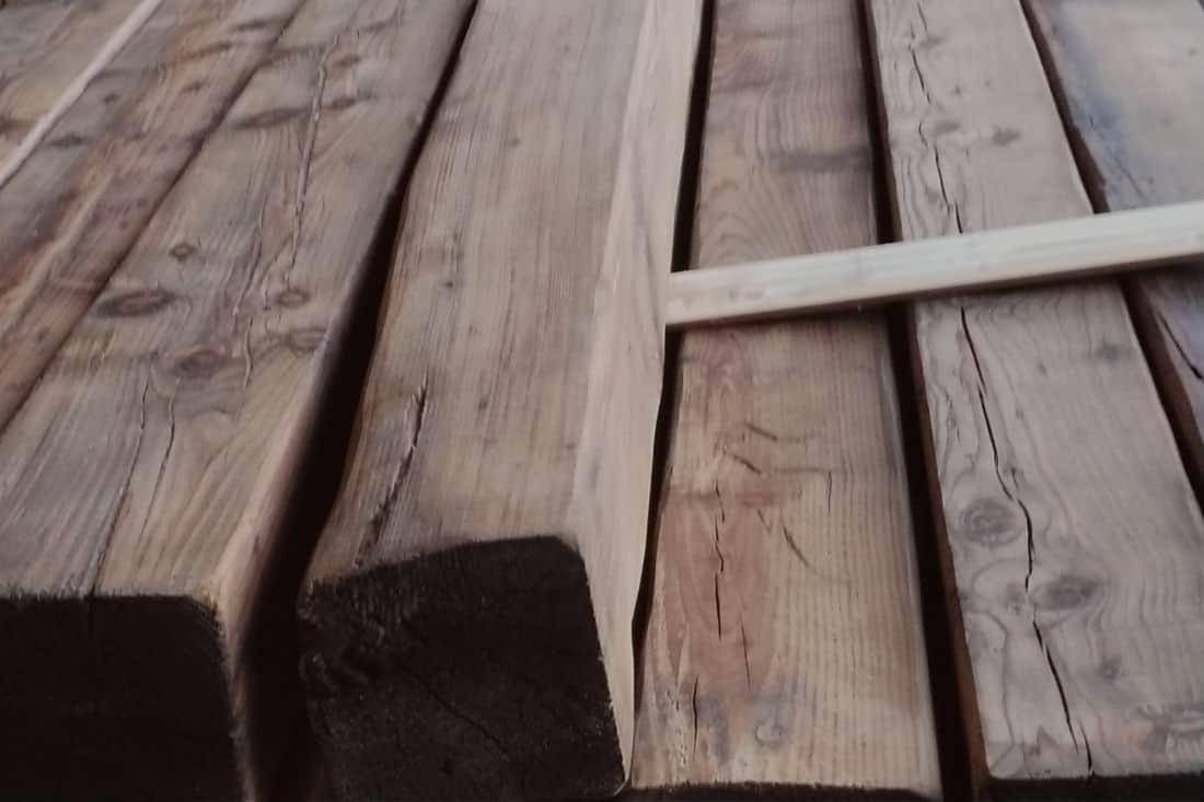 Vigas de madera recuperadas rusticos y madera - Vigas falsas de madera ...
