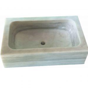 fregadero mármol blanco