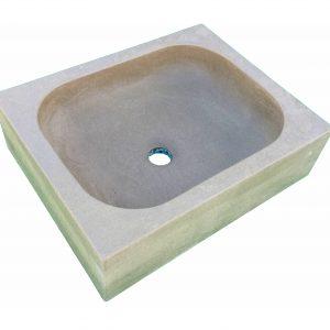 lavabo piedra marrón