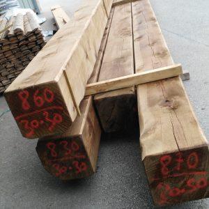 vigas de madera envejecida